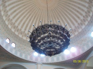 The Mosque celling in Kampala