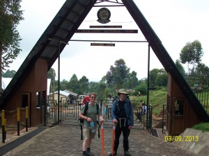 Machame Gate - ready to set off.