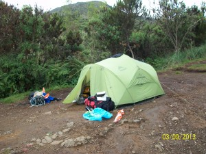 Machame Camp - our tent!