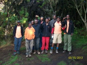 The full team that took us up the mountain and got us back again! These guys are true heroes